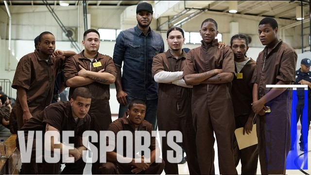 Carmelo Anthony Visits New York Rikers Island